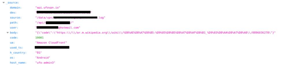 Additional user web activity log